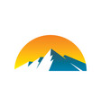 abstract mountain expedition logo image vector image vector image