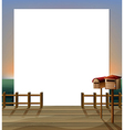 An empty paper template with a wooden bridge and vector image vector image
