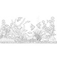 aquarium for coloring vector image vector image