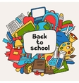 Back to school background with education hand vector image