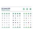 basic ui icons kit vector image
