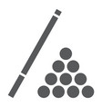 billiard glyph icon game and sport pool sign vector image vector image