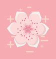blossom flower icon vector image
