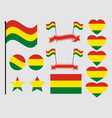 bolivia flag set collection of symbols flag vector image vector image