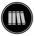 books black coin vector image