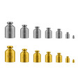 calibration weights golden silver range for beam vector image vector image