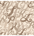 Calligraphy alphabet typeset lettering vector image