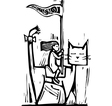 Cat Rider vector image vector image