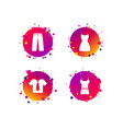 clothes signs t-shirt with tie and pants vector image vector image