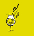 cocktail pina colada sketch for your design vector image