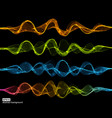 collection abstract light wave futuristic vector image vector image