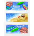 colorful umbrella swimming pool vector image vector image