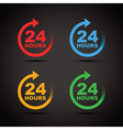 colour set 24 hours vector image vector image