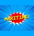 comic bright sea concept vector image vector image