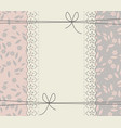 creative lace frame with stylish flowers and vector image vector image