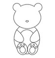 cute and tender bear character vector image vector image