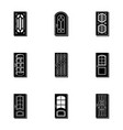 doorway icons set simple style vector image vector image
