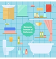 Element of the interior bathroom vector image vector image