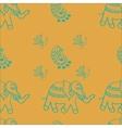Elephantspeacocks paisley seamless pattern for vector image