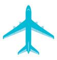 flying passenger plane on a white background vector image vector image