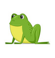 frog sitting on a white background vector image