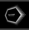 halftone distort hexagon in perspective vector image vector image