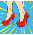 hand drawn pop art of an elegant woman shoes High vector image vector image