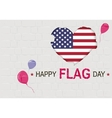 Happy USA Flag day American Heart symbol vector image vector image