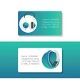 headphone business card headset listening vector image vector image