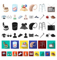 human old age cartoon icons in set collection for vector image