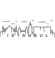 istanbul outline icon can be used for web logo vector image