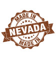 made in nevada round seal vector image vector image