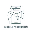 mobile promotion line icon linear concept vector image vector image