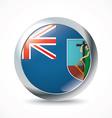 Montserrat flag button vector image vector image