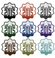 new year labels with sheep vector image vector image