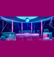 nightclub dance floor cartoon interior vector image