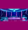 nightclub dance floor cartoon interior vector image vector image
