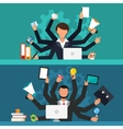 Office job stress work vector image