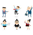 office workers set vector image vector image