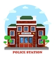 Outdoor exterior view on police station building vector image