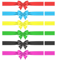 Polka dot bows with ribbons vector image vector image