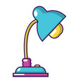 reading lamp icon cartoon style vector image vector image