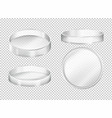 round transparent plates on transparent background vector image vector image