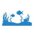 seafloor scene isolated icon vector image vector image