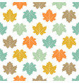 seamless colored maple leaves pattern vector image vector image