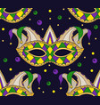 Seamless festive pattern with masks