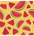 Seamless Pattern Watermelon Slice Orange vector image vector image