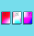 set a colorful gradient texture background vector image vector image