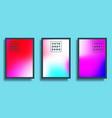 set a colorful gradient texture background vector image