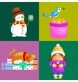 set Merry Christmas Happy new vector image vector image